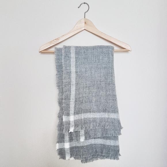 Zara Grey Blanket Scarf